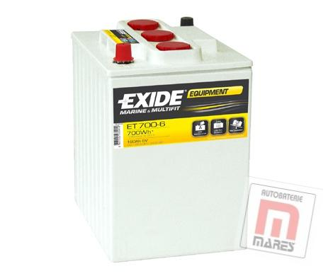 EXIDE EQUIPMENT 6V 190 Ah ET 700-6