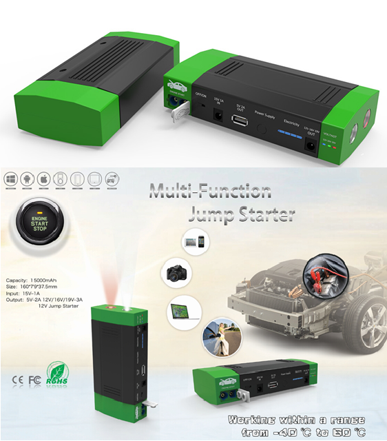 Li-ion start booster + power bank