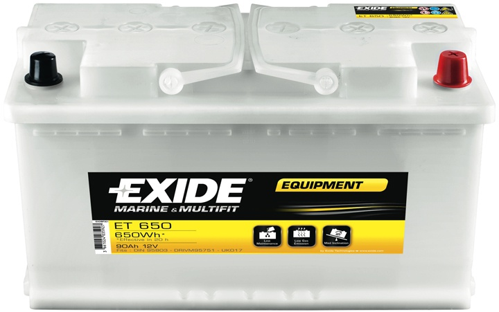 EXIDE EQUIPMENT 12V 100Ah ET650