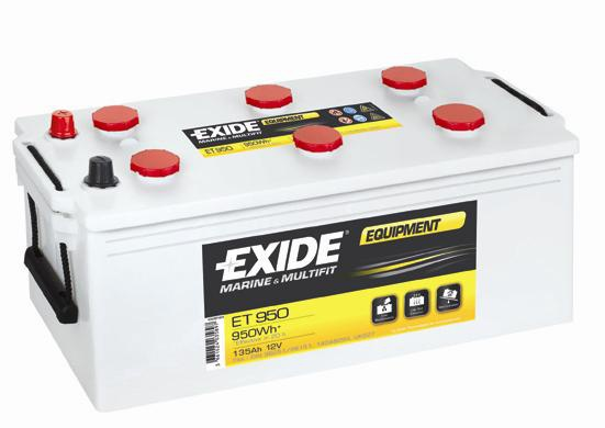 EXIDE EQUIPMENT 12V 135 Ah ET950