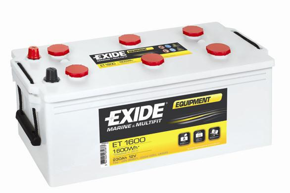 EXIDE EQUIPMENT 12V 230 Ah ET1600